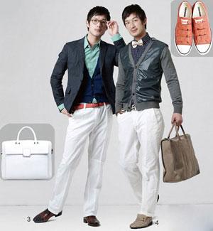 白裤搭配什么上衣