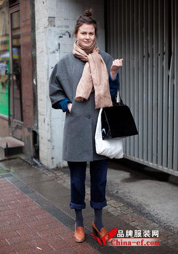 时尚街拍 欧美秋冬街头包包搭配风