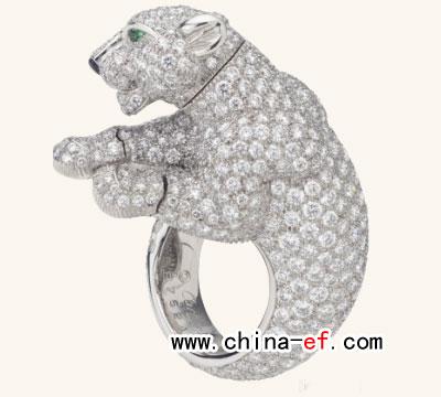 时尚cartier品牌珠宝动物戒指