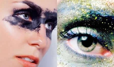创意彩妆的时尚特写图片